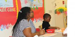 featured teacher talista murrill in a classroom with children