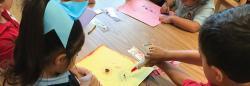 Children making an art project