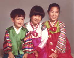 Michelle Kang and her siblings as children