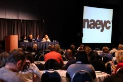 Panel session at NAEYC's conference.