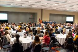NAEYC conference attendees gather for session.