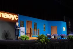 NAEYC's CEO, Rhian Evans Allvin speaks at the 2019 Annual Conference.