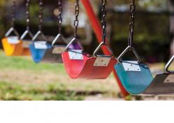 Colorful swings
