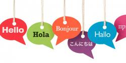 Multi language graphic greetings