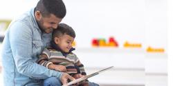 a parent reading with a child