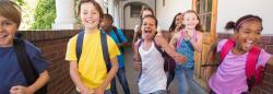 Children running in hallway