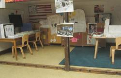 The children's command center inside their classroom