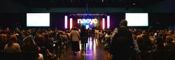 Picture of the opening session stage at Annual Conference