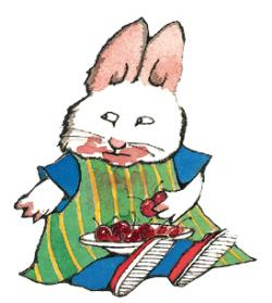 Illustration of Max the rabbit from a children's book by Rosemary Wells.