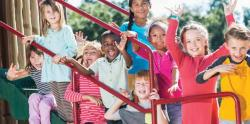 A group of children on a playground.