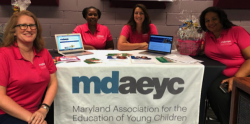 MDAEYC affiliate leaders sitting at table