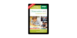 The cover of Spotlight on Young Children: Observation and Assessment, with images of adults teaching young children.