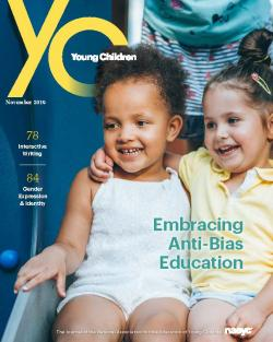 Cover of the November issue of YC, featuring two girls hugging
