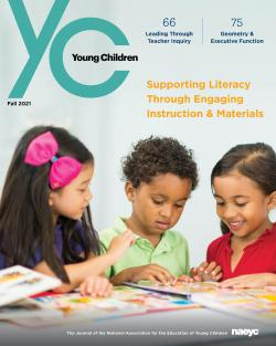 the cover of the publication young children, Volume 76, Number 3